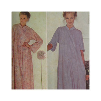 Vintage McCalls Sewing Pattern 6391 Misses Robe Housecoat Size Petite 6-8 Make It Tonight Wear It Tomorrow