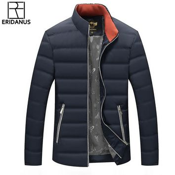 2017 White Duck Down Men's Winter Jacket Lightweight Casual Duck Down Jacket Snow Warm Stand Collar Brand Coat Parkas M610