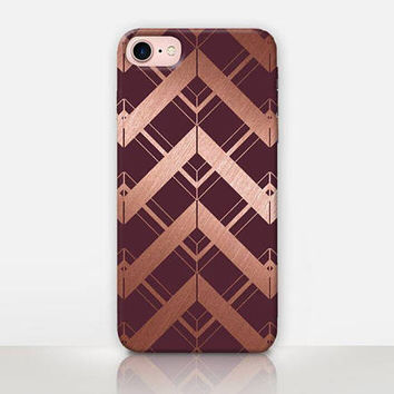 Art Deco Maroon Phone Case For- iPhone 8 - iPhone 7 - iPhone 7 Plus - iPhone SE - iPhone 5  - iPhone X  - Catching Rainbows – CRCases