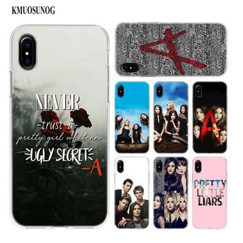 Transparent Soft Silicone Phone Case Pretty Little Liars Style for iPhone XS X XR Max 8 7 6 6S Plus 5 5S SE