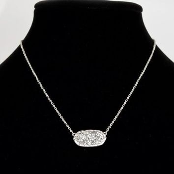 Silver Cindy Necklace/Earring Set