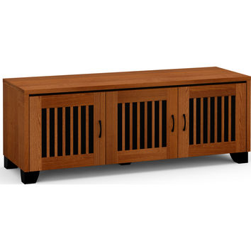 Sonoma 65 Inch TV Stand Cabinet 3 Doors American Cherry