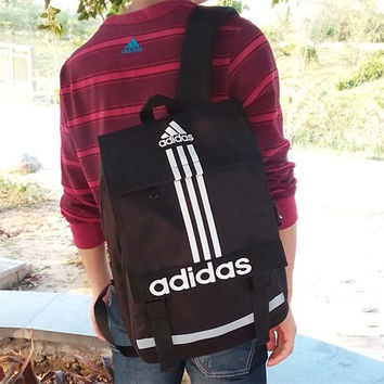 """Adidas"" Fashion Casual Male Female Student Canvas College Winds Clover Couple Travel Movement Canvas Backpack"