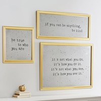 Antique Sentiment Mirrors