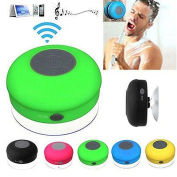 1Pc Portable Bluetooth Waterproof Wireless Speaker Shower Speaker Hands Free Mic