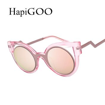 Fashion Women Cat Eye Sunglasses Classic Designer Retro Mirror Round Cat eye Sun Glasses Summer Shades