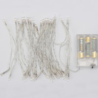 LED String Lights Battery Operated, White, 12-feet, 30 LED