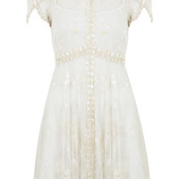 Petites Embellished Tea Dress