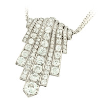 Boucheron Art Deco Diamond Platinum Pendant-Brooch