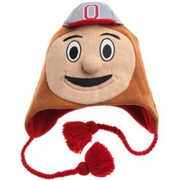 Ohio State Brutus Buckeye ZooZatz Mascot Beanie - Everything Buckeyes - OSU Fan Shop