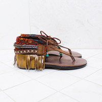 INDIE BOHO SANDALS - BROWN
