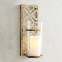 Quatrefoil Candle Holder Wall Sconce