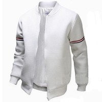 Men's Jackets Bomber Palace Solid Zipper Spring Rib Sleeve M-2XL Size