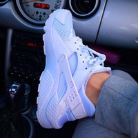 """NIKE"" Women Casual Running Sport Shoes Sneakers White"