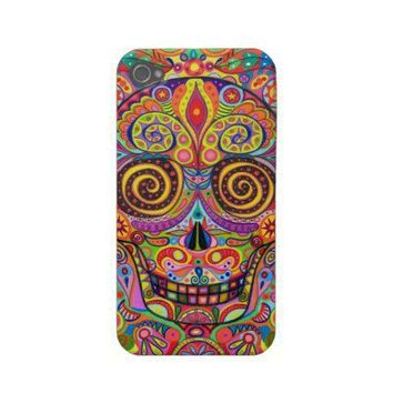 Day of the Dead iPhone 4/4S Barely There Case Case-mate Iphone 4 Case from Zazzle.com