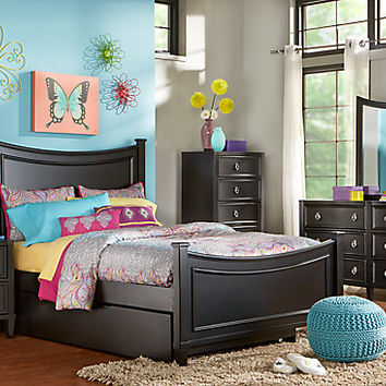 Jaclyn Place Black 5 Pc Full Bedroom