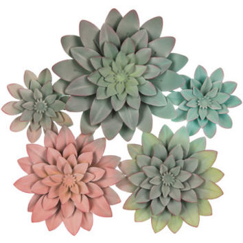 Succulent Cluster Metal Wall Decor   Hobby Lobby   1643915