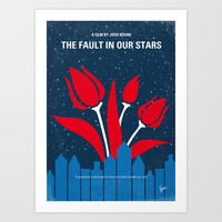 No340 My The Fault in Our Stars minimal movie poster Art Print by Chungkong