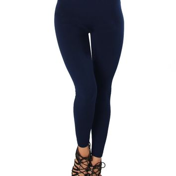 LL548 Comfy and Cozy Navy Winter Fleece Leggings