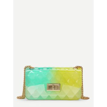 Clear Multicolor Chain Bag