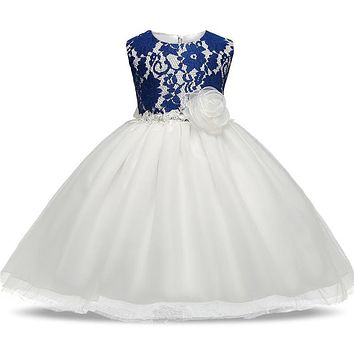 Pretty Toddler Girl Baby Wedding Dress Newborn Infant Christening Gown For 1 2 Year Baby Girl Birthday Outfits Kids Party Wear