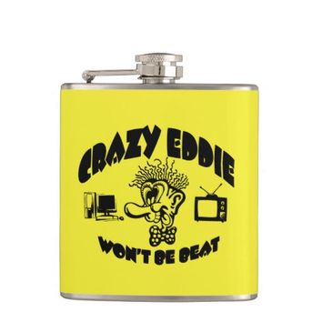 Awesome 80's Vintage 'Crazy Eddie' Flask