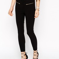 New Look Petite Tailored Pant with Zip Detail