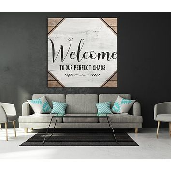 Welcome Custom House Wall Art Sign Canvas Print Personalized House Gift