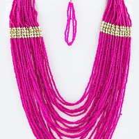 SEED BEADS LAYER NECKLACE SET