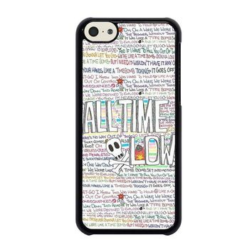 all time low writting iphone 5c case cover  number 1