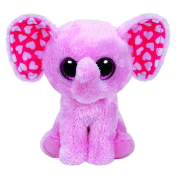"Pyoopeo Ty Beanie Boos 6-Inch Sugar Elephant Pink 6"" Beanie Baby Plush Stuffed Doll Toy Collectible Soft Big Eyes Plush Toys"
