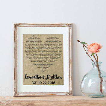 Best Wedding Lyrics Gift Products on Wanelo