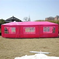 10' x 30' Party Gazebo Tent with 8 Walls - Pink
