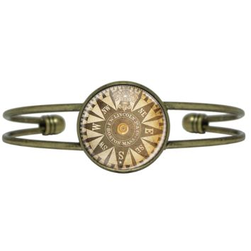 Coffee Stained Compass Bracelet