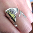 Dachshund dog ring jewelry, 925 Solid sterling silver ring, Adjustable (Matte or Shine)