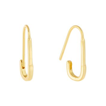 Solid Safety Pin Earring