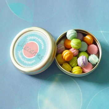 Mini macaron round metal box French dessert Fake macaron Miniature food Mini kawaii