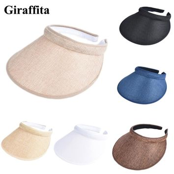New!! Big Wide Brim Straw Sun Visors Hat Women/gilr Fashion Empty Top Caps Spring Summer