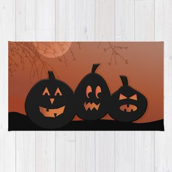 Halloween Pumpkins Rug by UMe Images