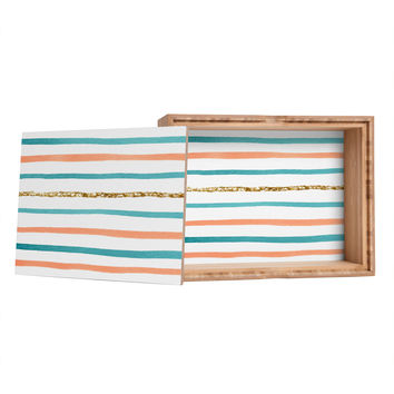 Social Proper Sparkle Stripe Jewelry Box