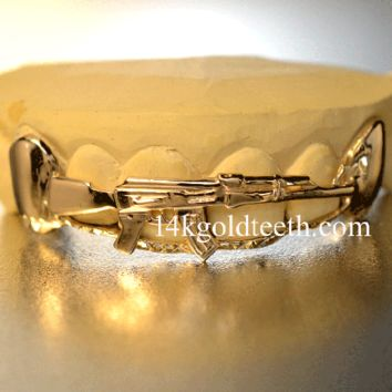 gold teeth grillz -AKTY10301 top grillz - Top Grillz - catalog categories