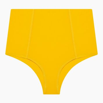 Heather High Waist Bikini Bottom - Marigold Yellow