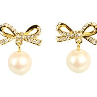 Kate Spade New York Skinny Mini Pearl Drop Earrings