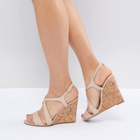 Dune Leather Summer Cork Wedges at asos.com