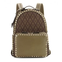 Viva Valentino jacquard and leather backpack