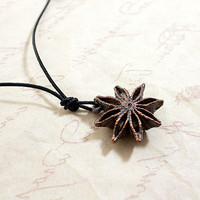 Rugged Little Copper Encased Star Anise by Nanfan on Etsy