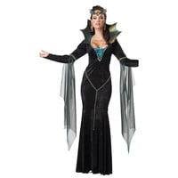 Hot sell Adult British Queen Costumes ,Extravagant Long Dress queen Cosplay female Halloween Costumes
