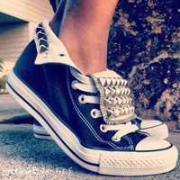 Studded Converse Shoes by UrbanEclectics on Etsy