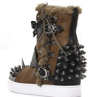 Hades Shoes Phelan Brown Sneaker Wedges