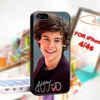 Harry Styles One Direction 1D - Photo On Hard Cover For iPhone 4,4S